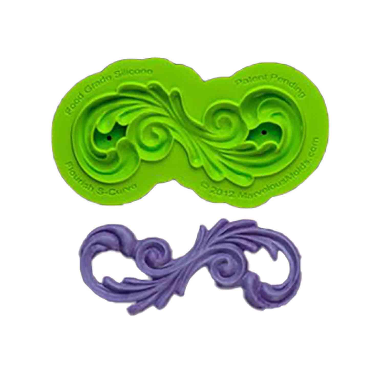 Flourish S-Curve Silicone Mold