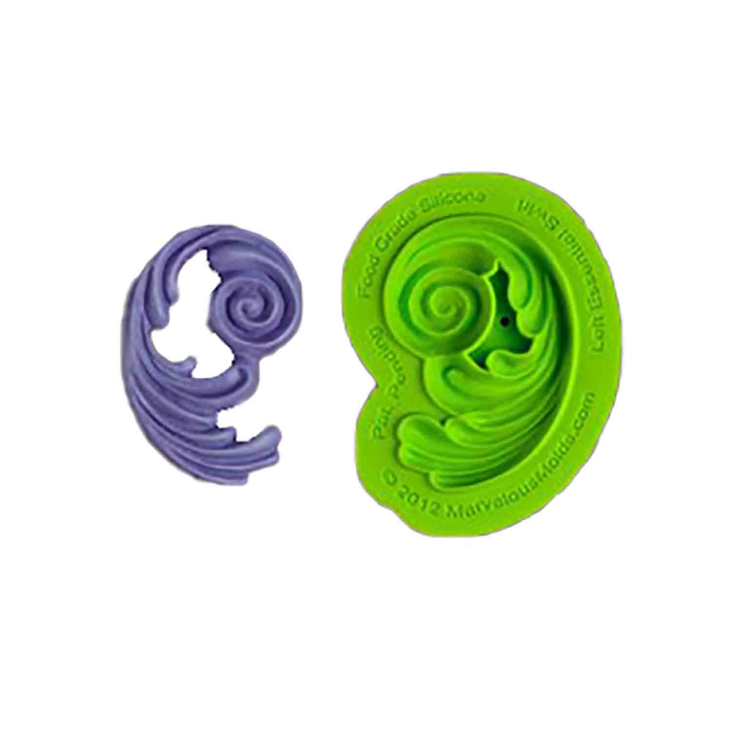 Left Swirl Silicone Mold