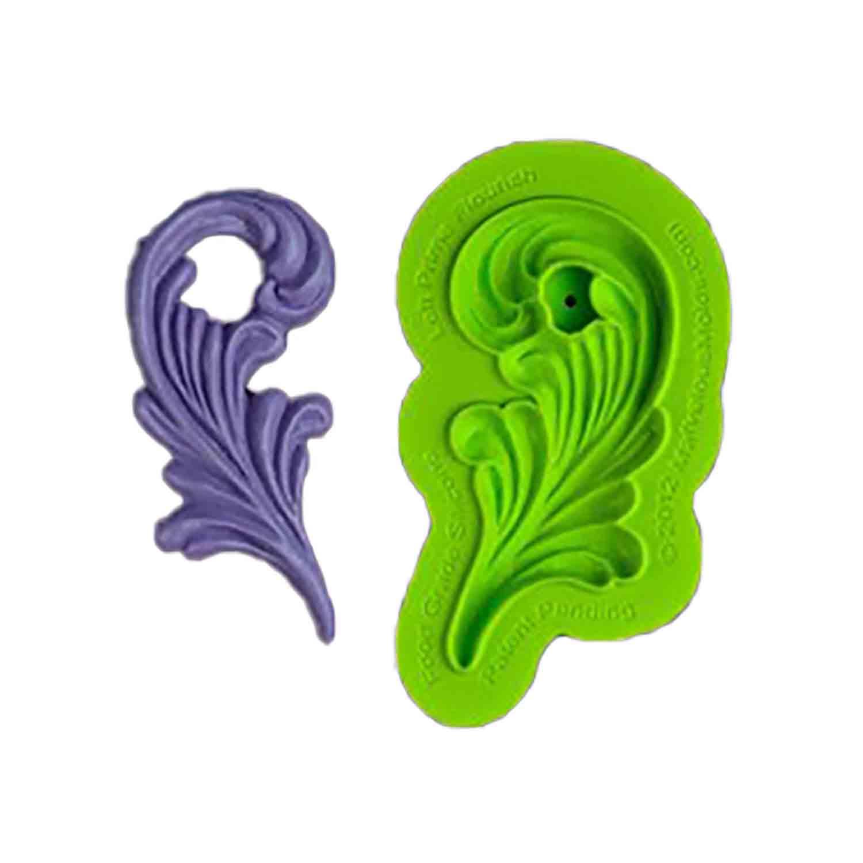 Left Flourish Silicone Mold