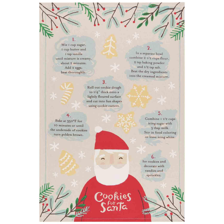 Cookies for Santa Dish Towel