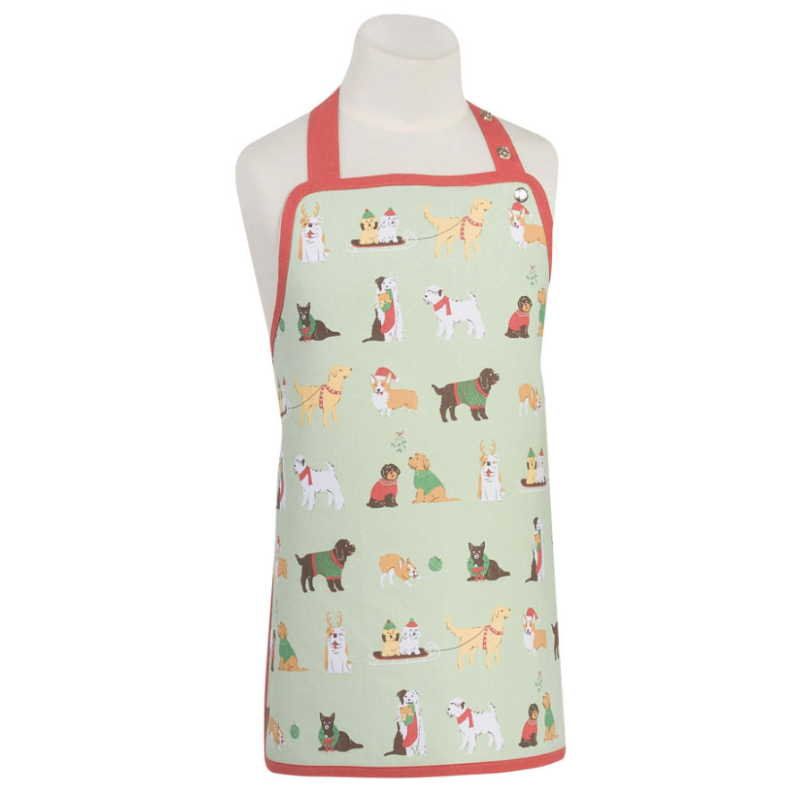 Kids' Apron - Holiday Pups