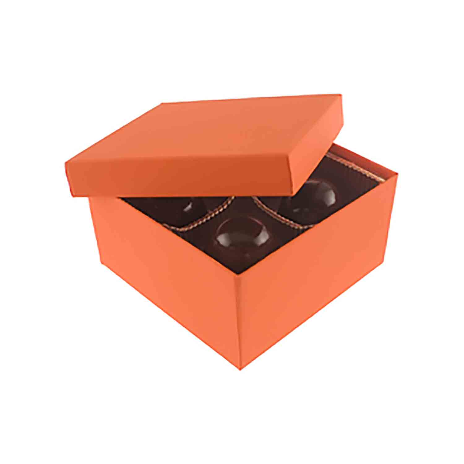 4 Pc. Orange Tango Candy Box