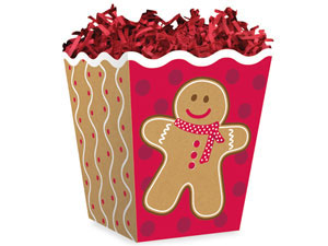 3 lb. Gingerbread Boy Popcorn Style Treat Box