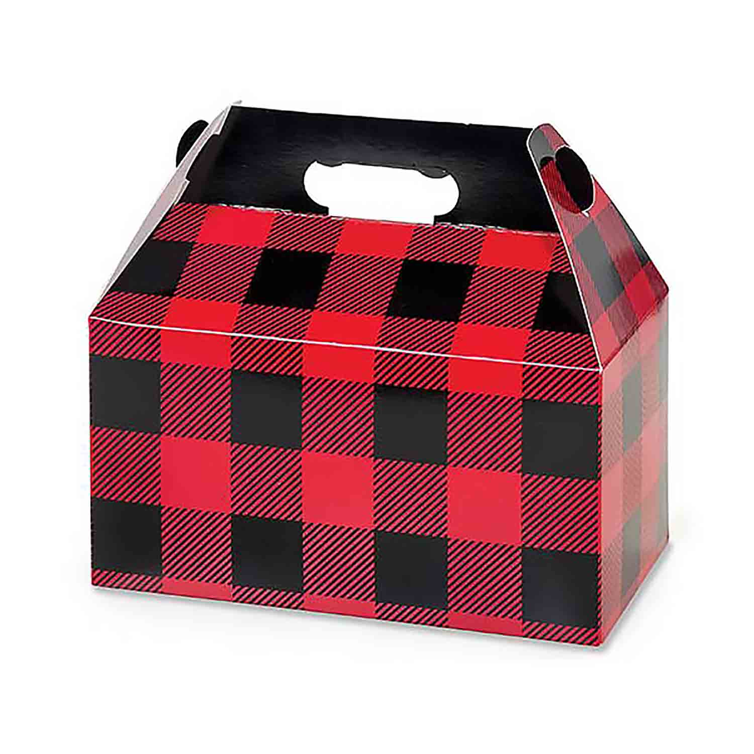 4 lb. Buffalo Plaid Gable Box