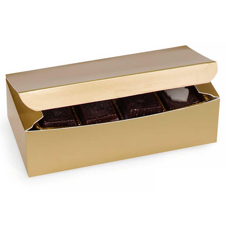 1 lb Gold Candy Box