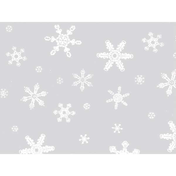 """Cello Wrap- Snowflakes 24"""" x 100'"""