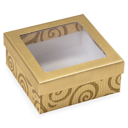 4 pc. Gold Swirl Candy Box with Window