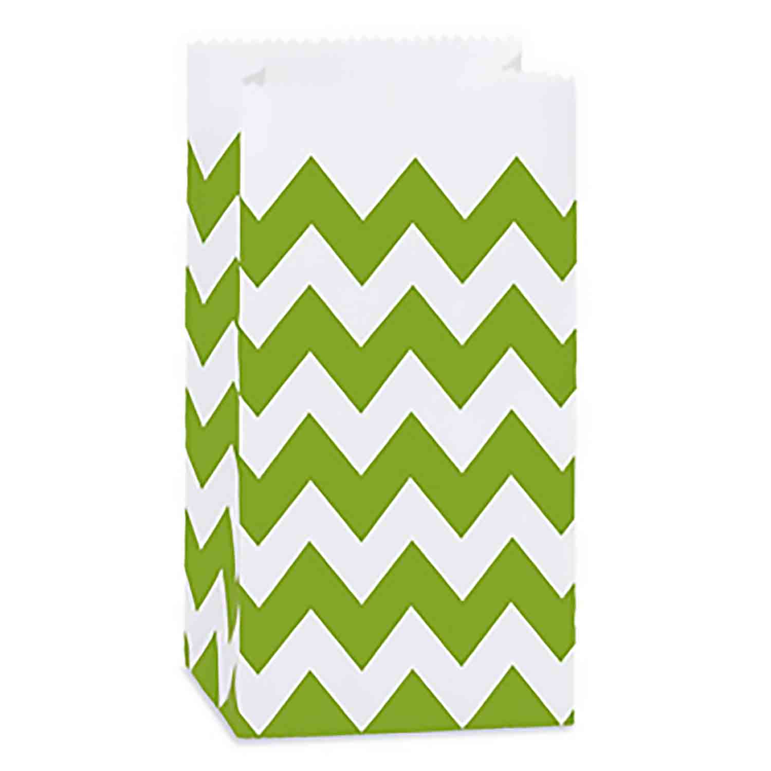 Green Apple Chevron Paper Gift Bags