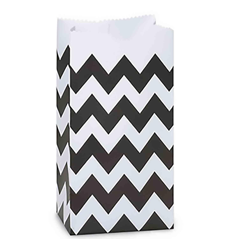Black Chevron Paper Gift Bags