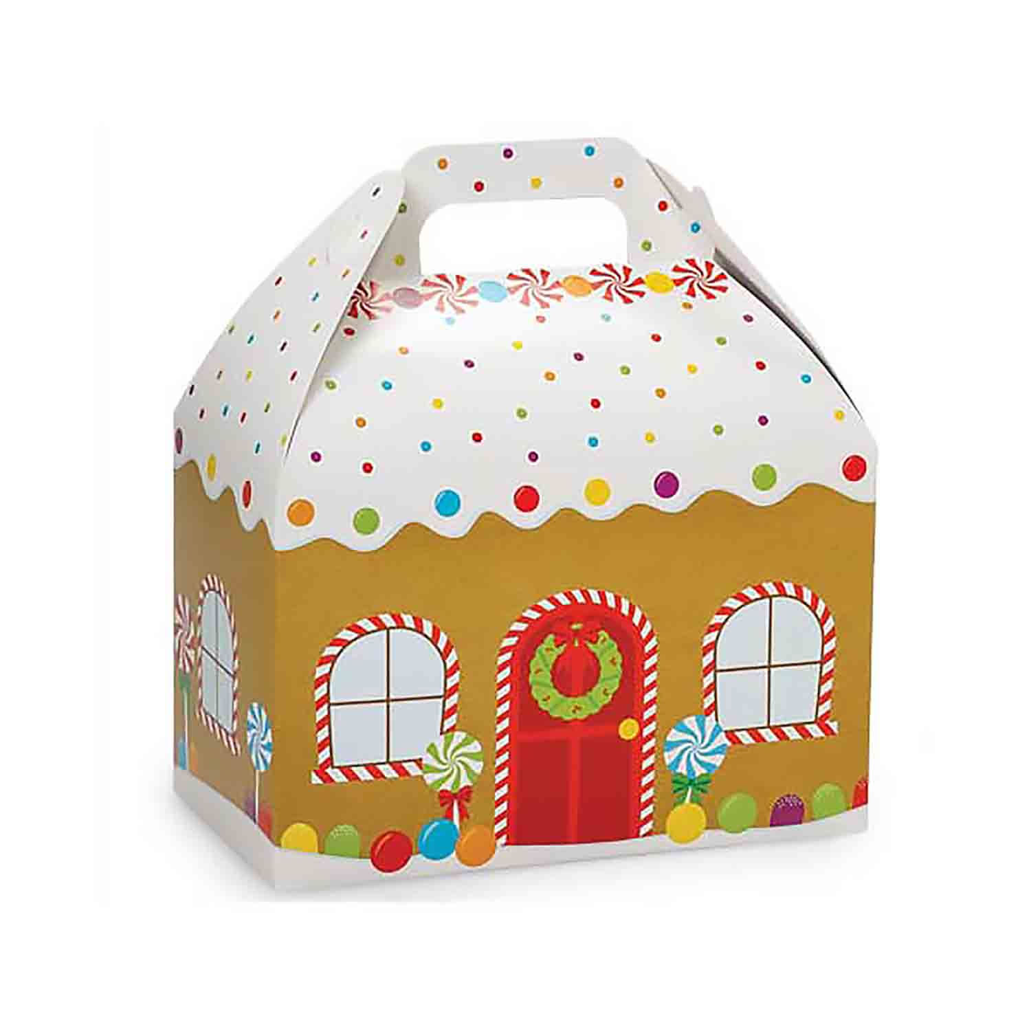 4 lb Gingerbread House Gable Box