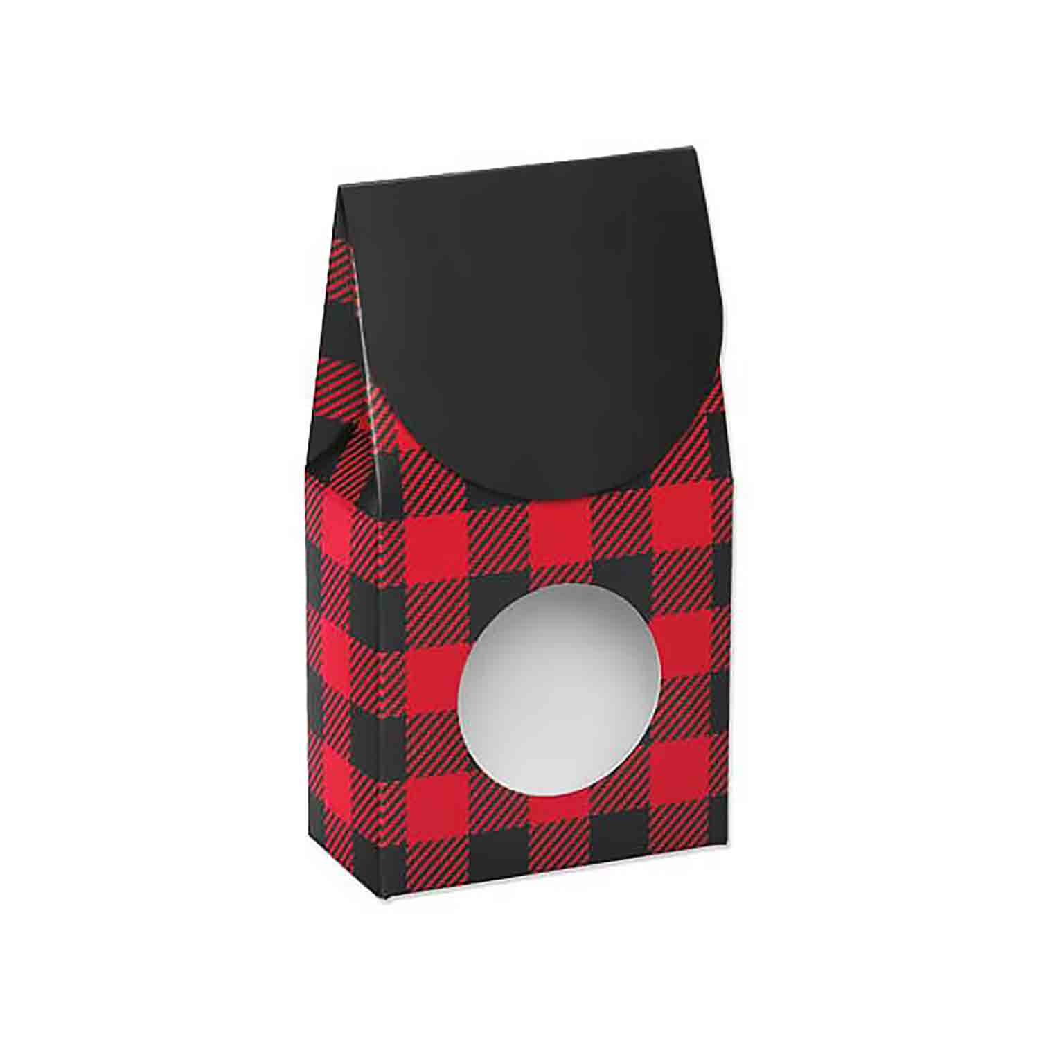 1 lb. Buffalo Plaid Candy Box with Window