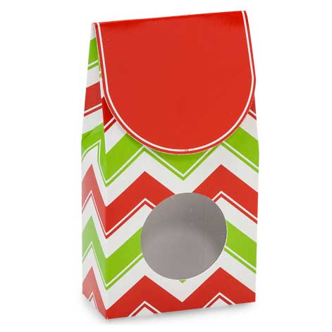 1/2 lb. Holiday Chevron Gift Box with Window