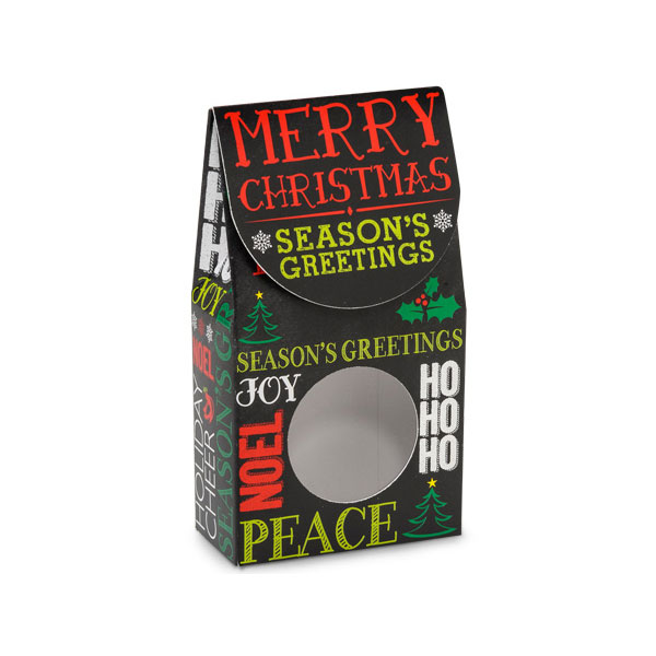 1/2 lb. Holiday Greetings Gift Box with Window