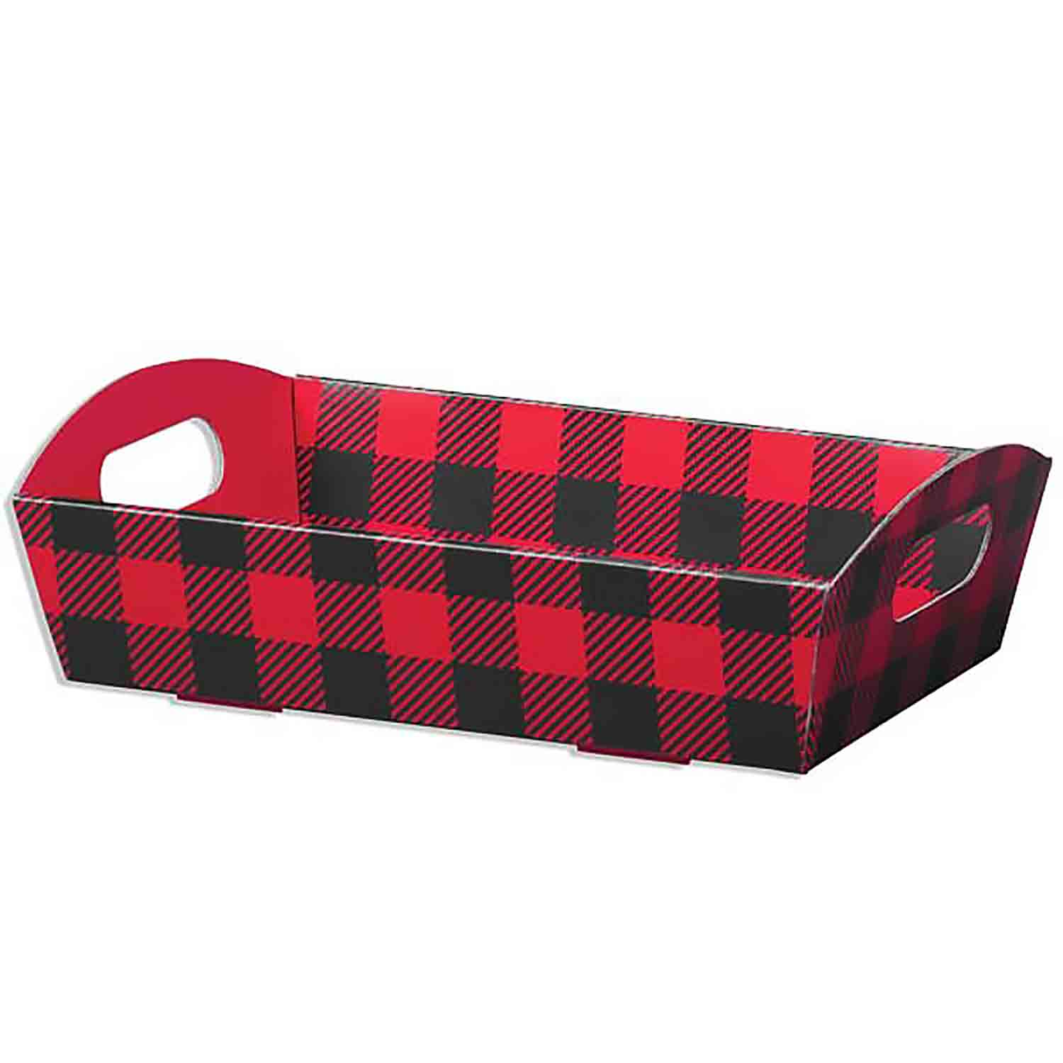 Buffalo Plaid Shallow Market Tray