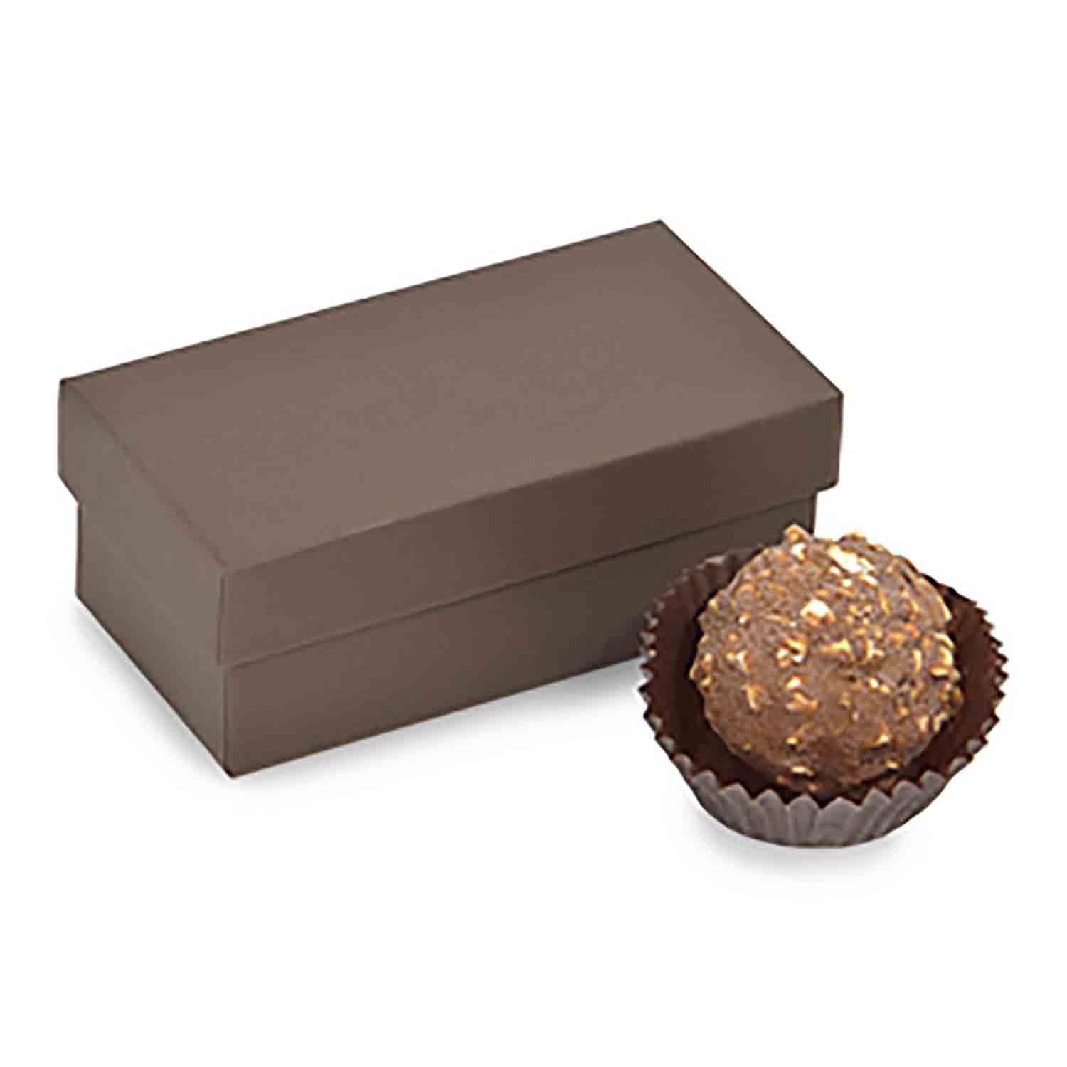 2 Pc. Chocolate Brown Candy Box