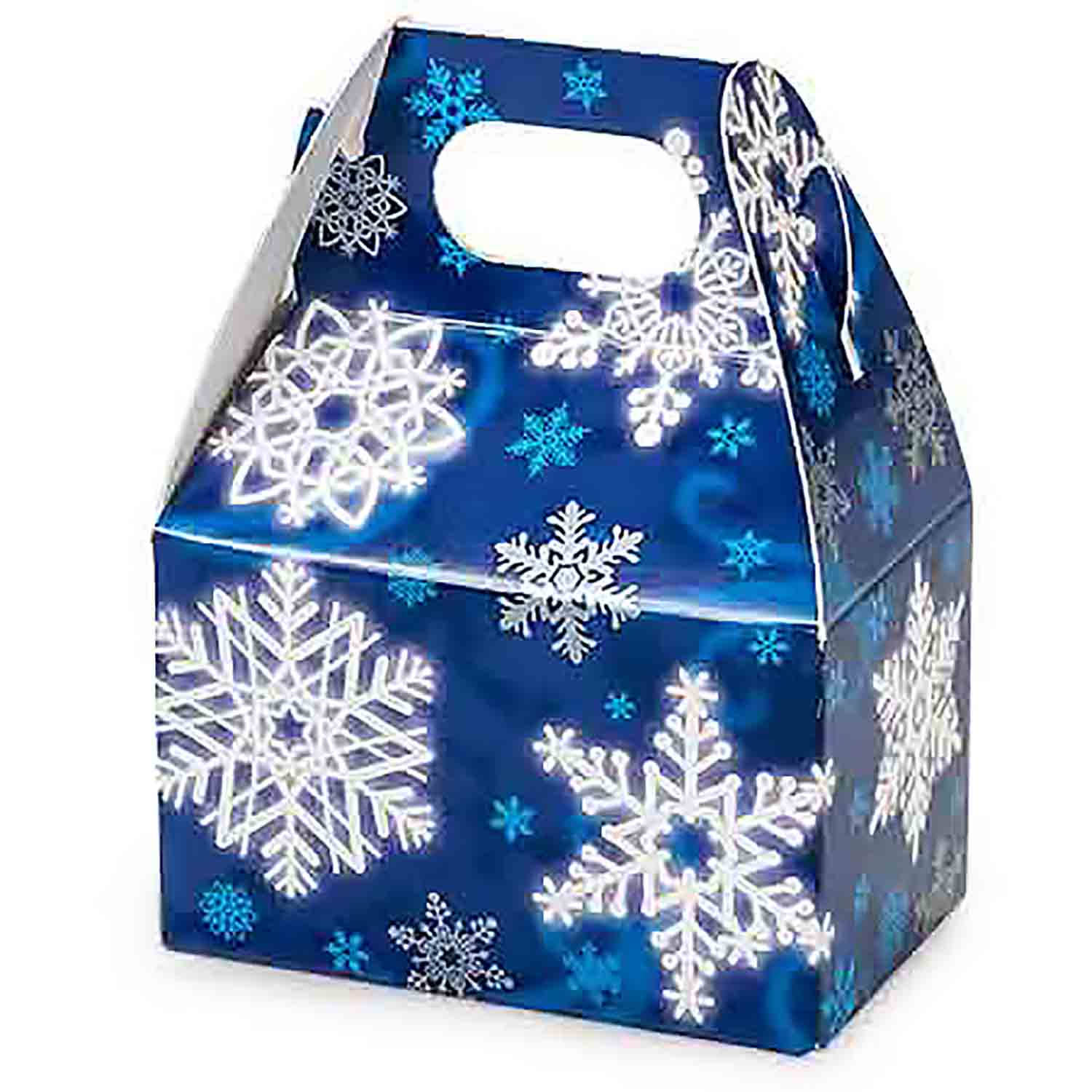 1/2 lb. Blue Snowflake Mini Gable Box