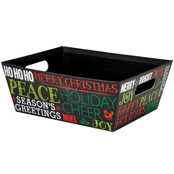 Holiday Greetings Extra Large Market Tray
