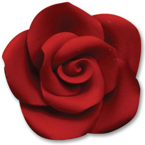 Medium Red Gum Paste Roses
