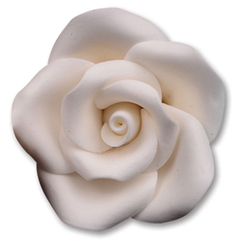 Medium White Gum Paste Roses