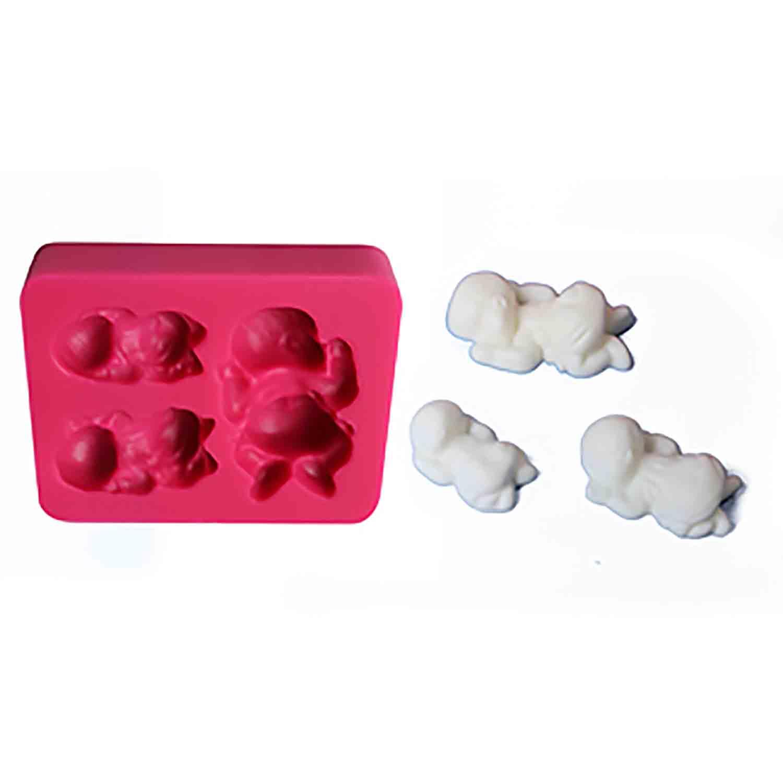 Sleeping Baby Silicone Mold - 3 Cavities