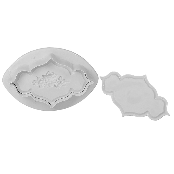 Plaque with Roses Plunger Cutter Set