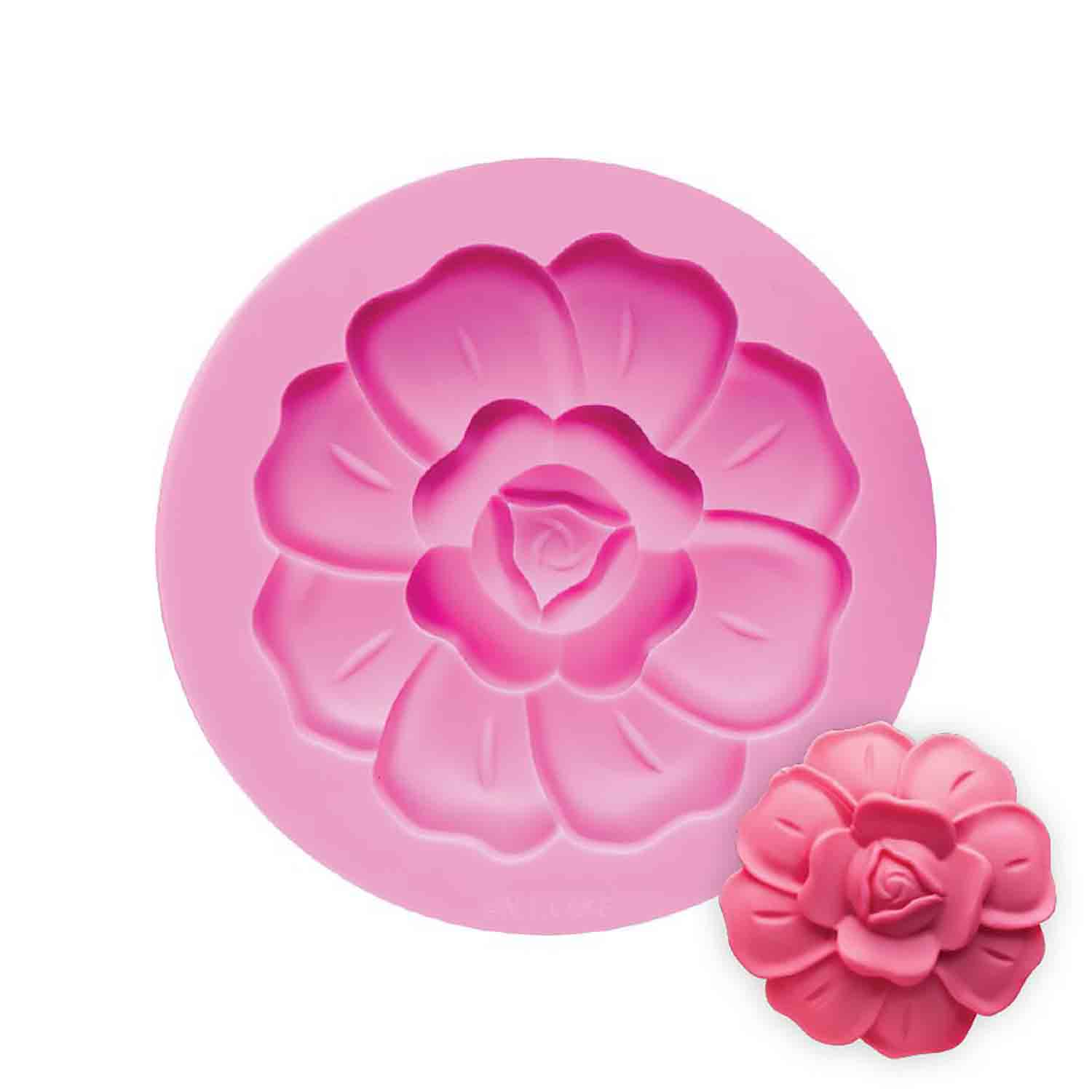 High Fashion Rose Silicone Mold