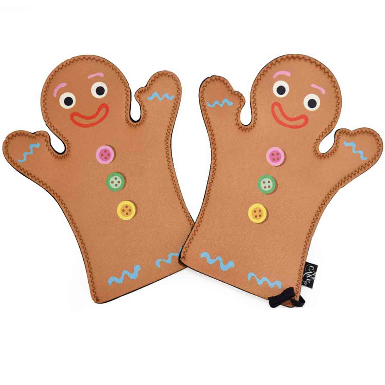 Gingerbread Boy Oven Mitts