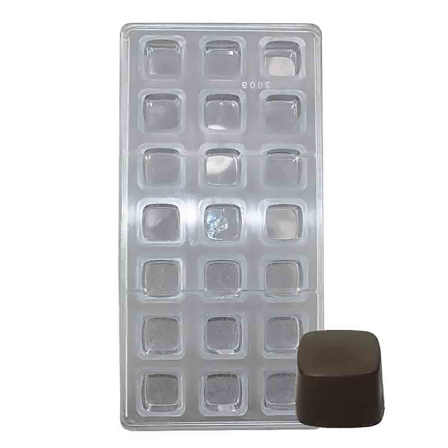 Square Polycarbonate Chocolate Candy Mold