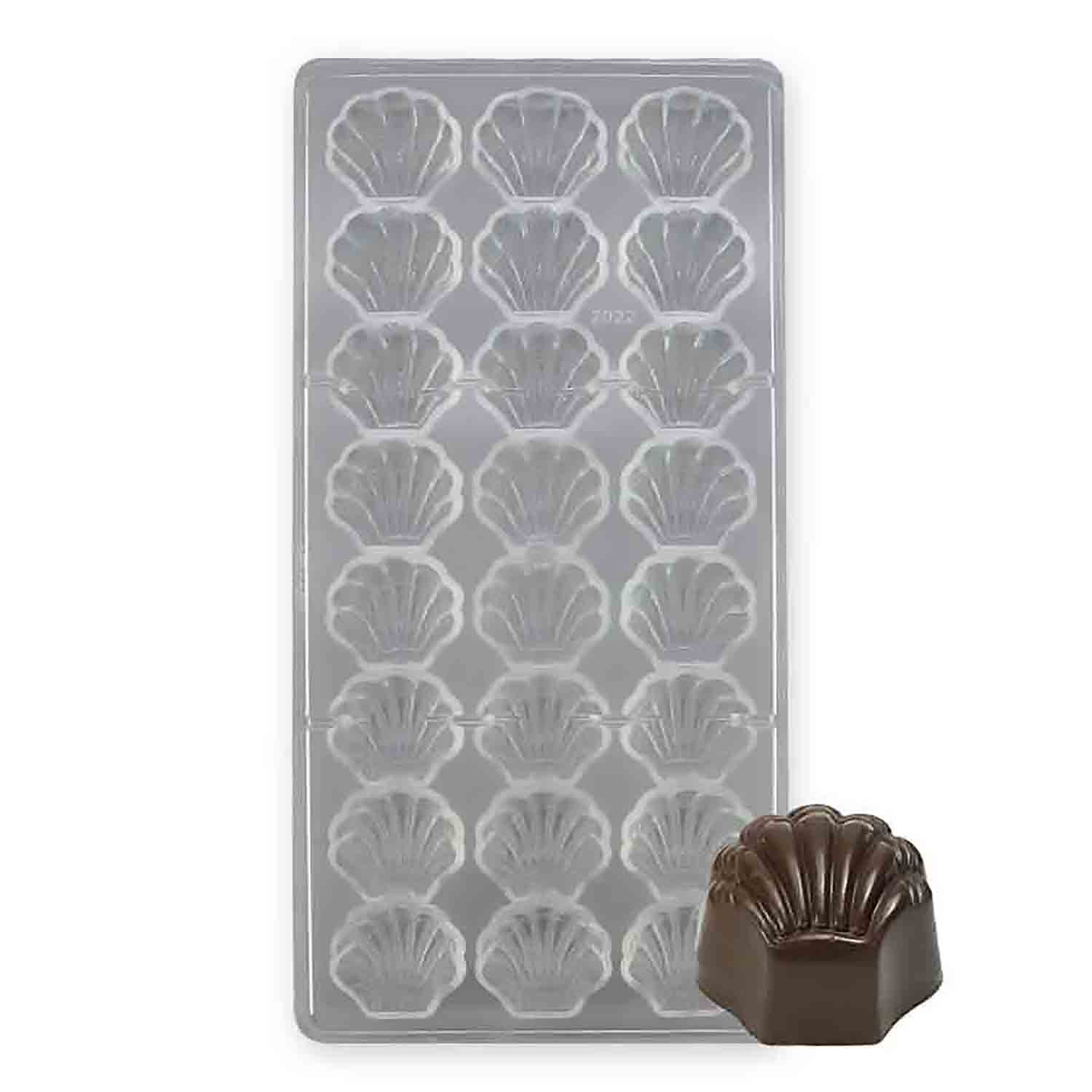 Sea Shell Polycarbonate Chocolate Candy Mold