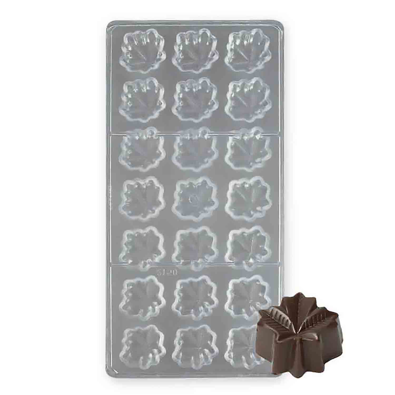 Maple Leaf Polycarbonate Chocolate Candy Mold