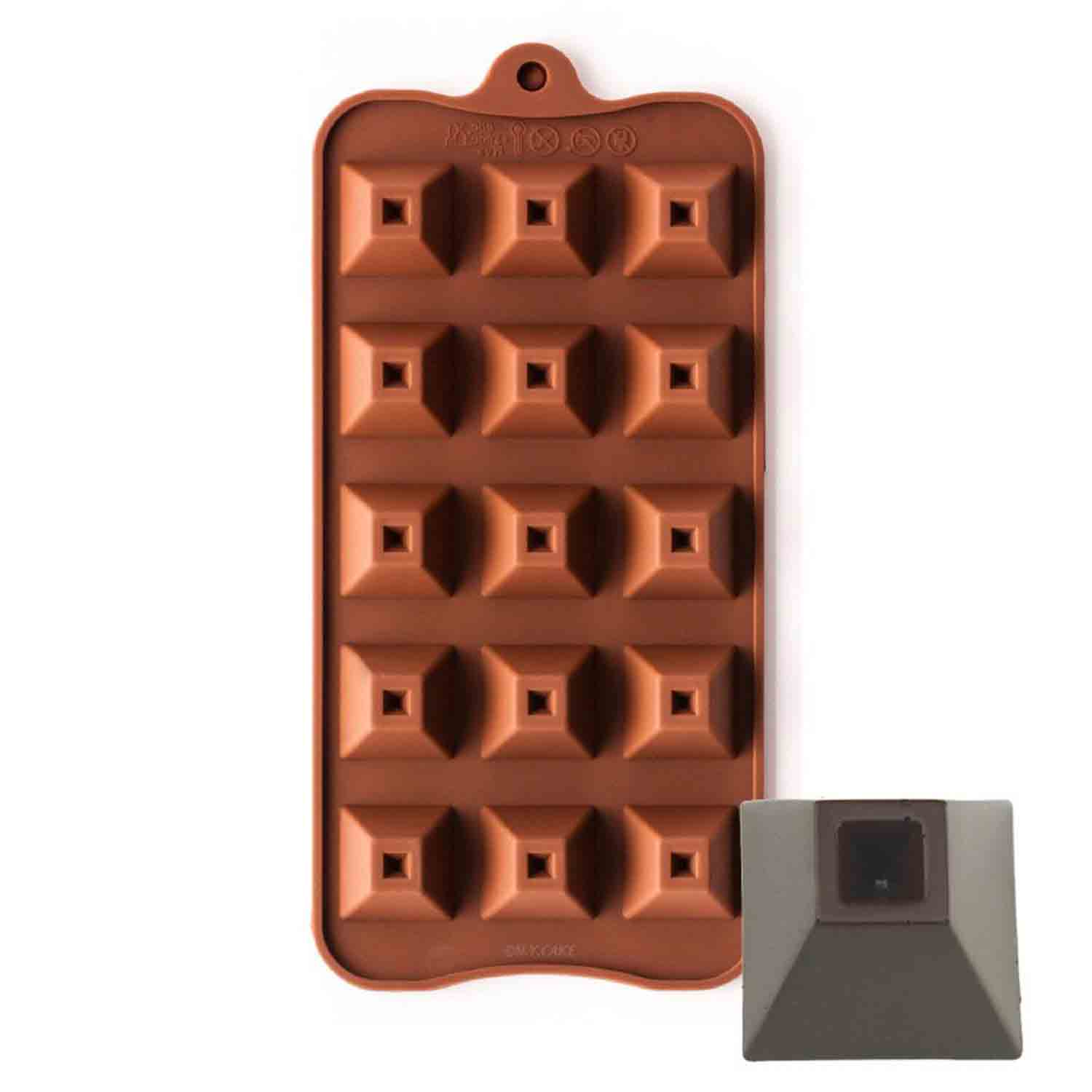 Pyramid Shape Silicone Chocolate Mold