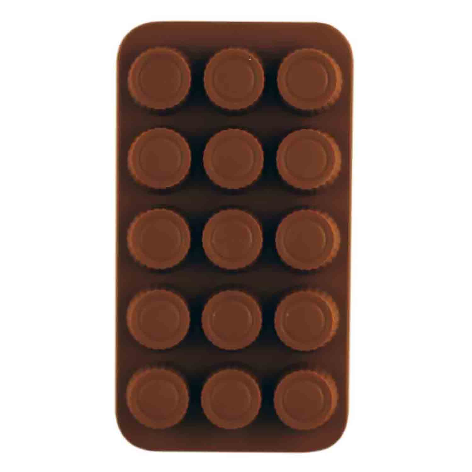 Peanut Butter Cup Silicone Chocolate Candy Mold