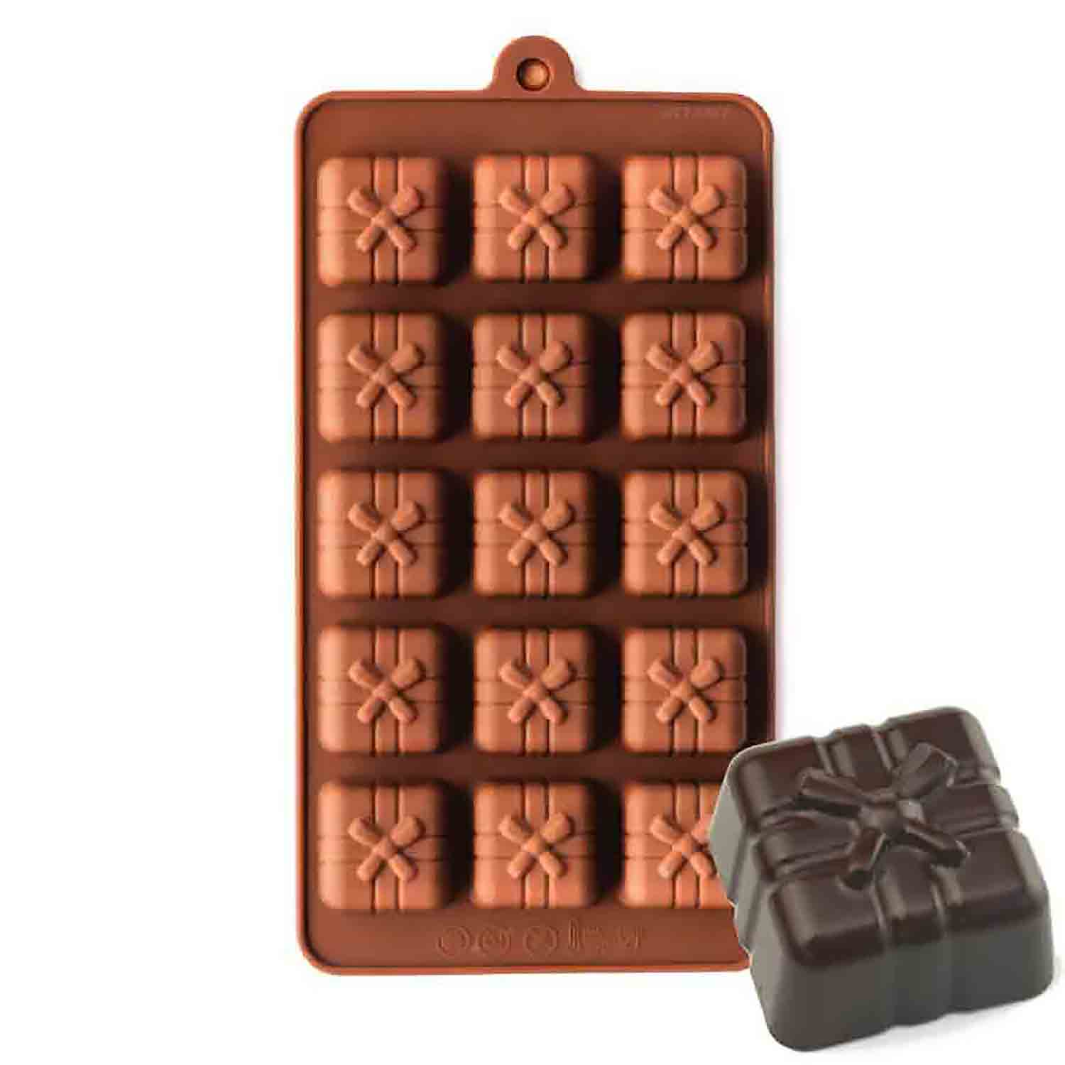Gift Box Silicone Chocolate Candy Mold