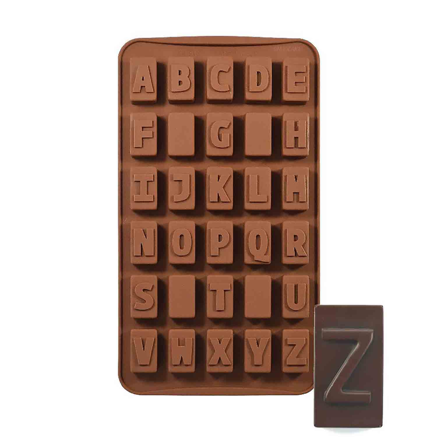 Alphabet Silicone Chocolate Candy Mold