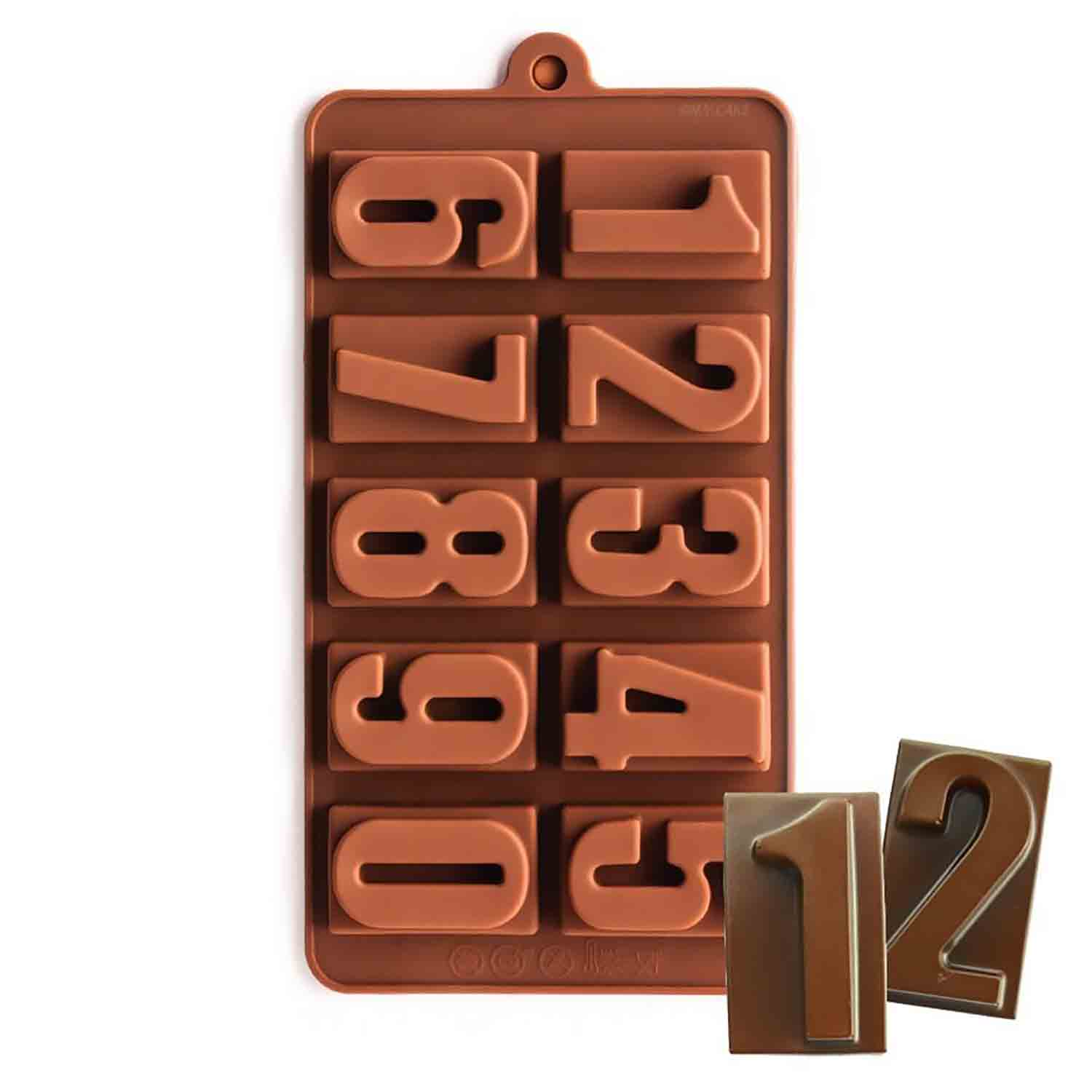 Numbers Silicone Chocolate Candy Mold