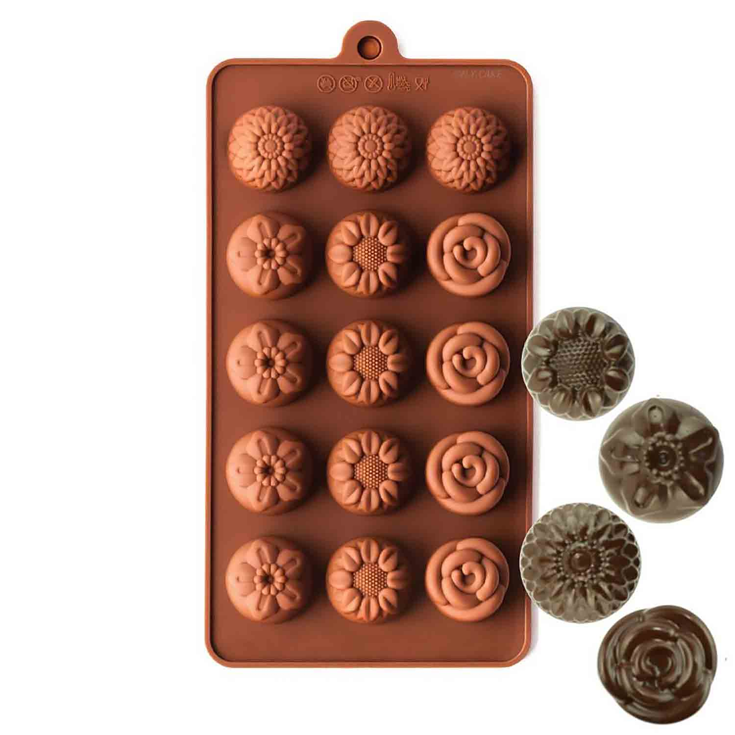 Flower Assortment Silicone Chocolate Candy Mold