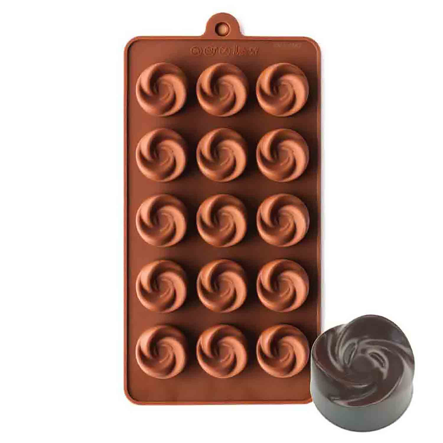 Rosette Silicone Chocolate Candy Mold Ny Scm1313