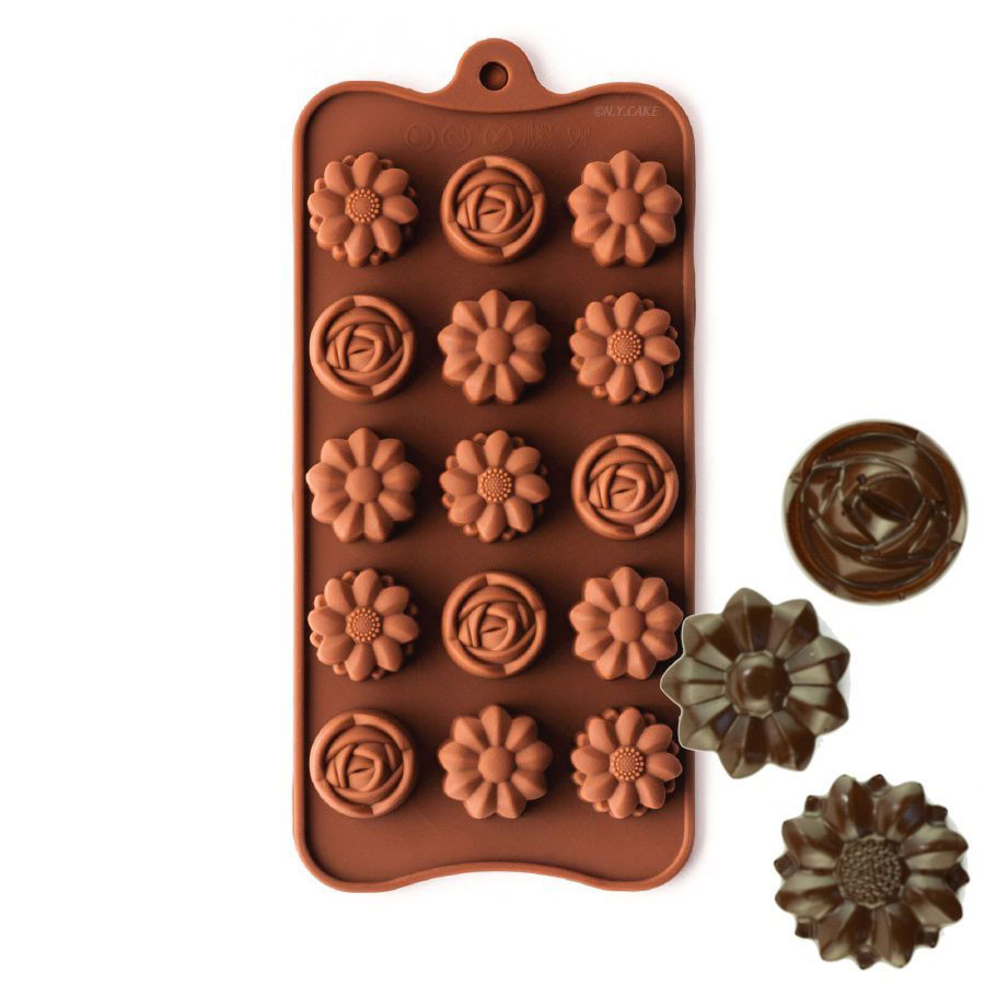 Rose and Daisy Silicone Chocolate Candy Mold