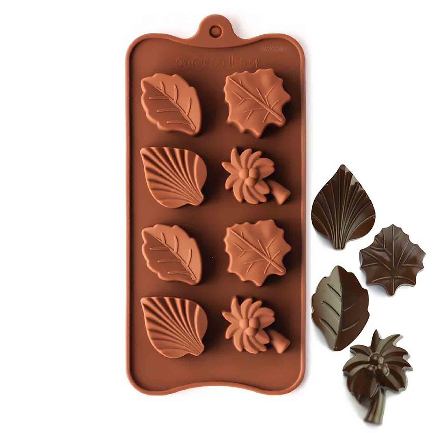 Plam Tree & Leaf Silicone Chocolate Candy Mold