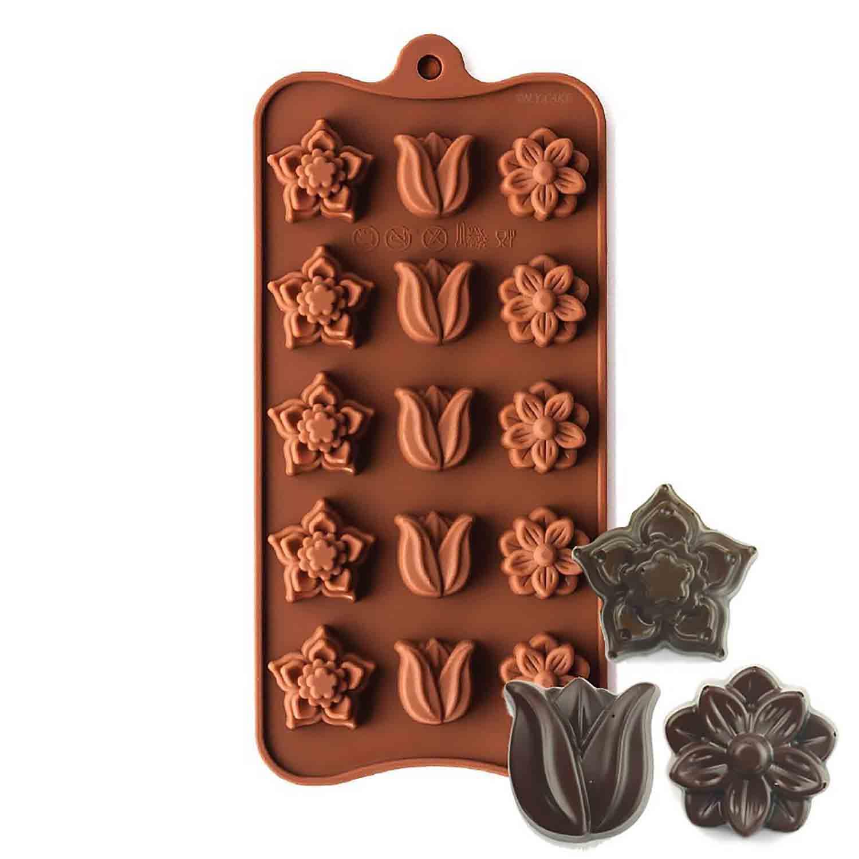 Petunia & Daisy Silicone Chocolate Candy Mold