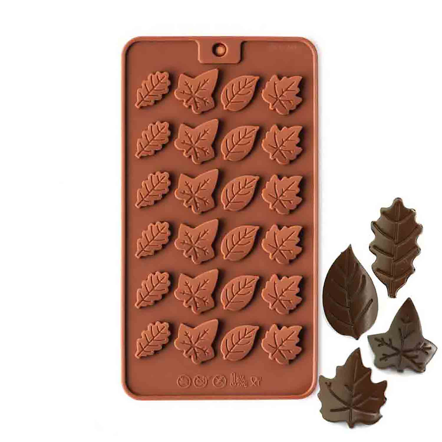 Leaf Medallions Silicone Chocolate Candy Mold