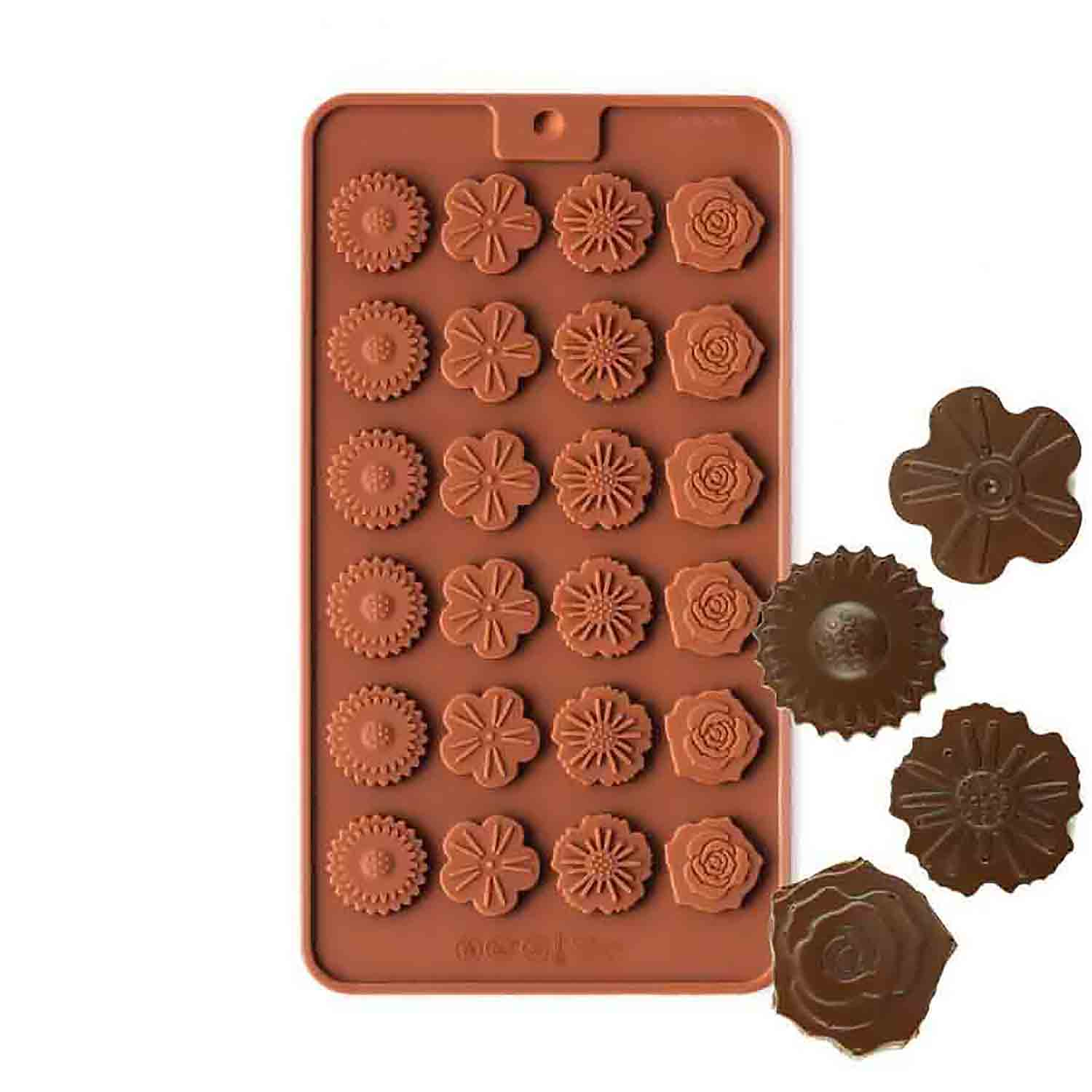 Flower Medallions Silicone Chocolate Candy Mold