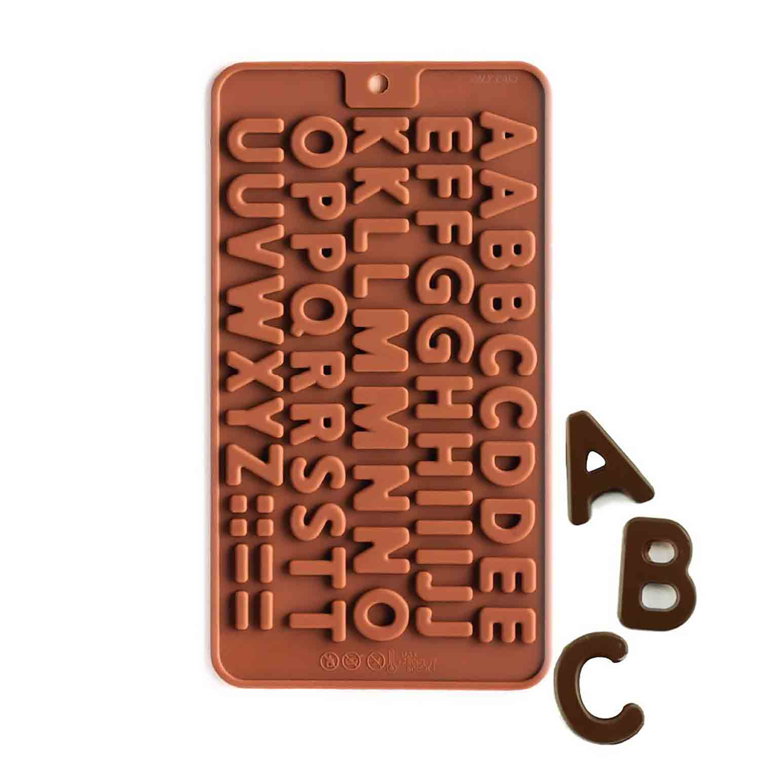 Mini Alphabet Silicone Chocolate Candy Mold