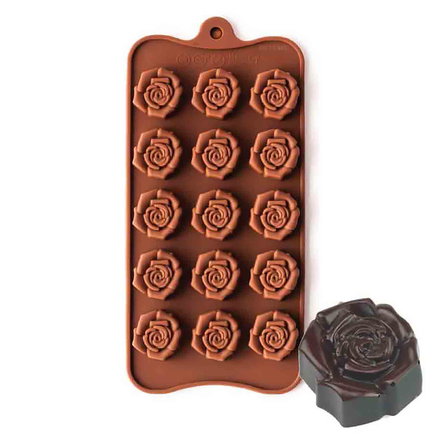Open Rose Silicone Chocolate Candy Mold