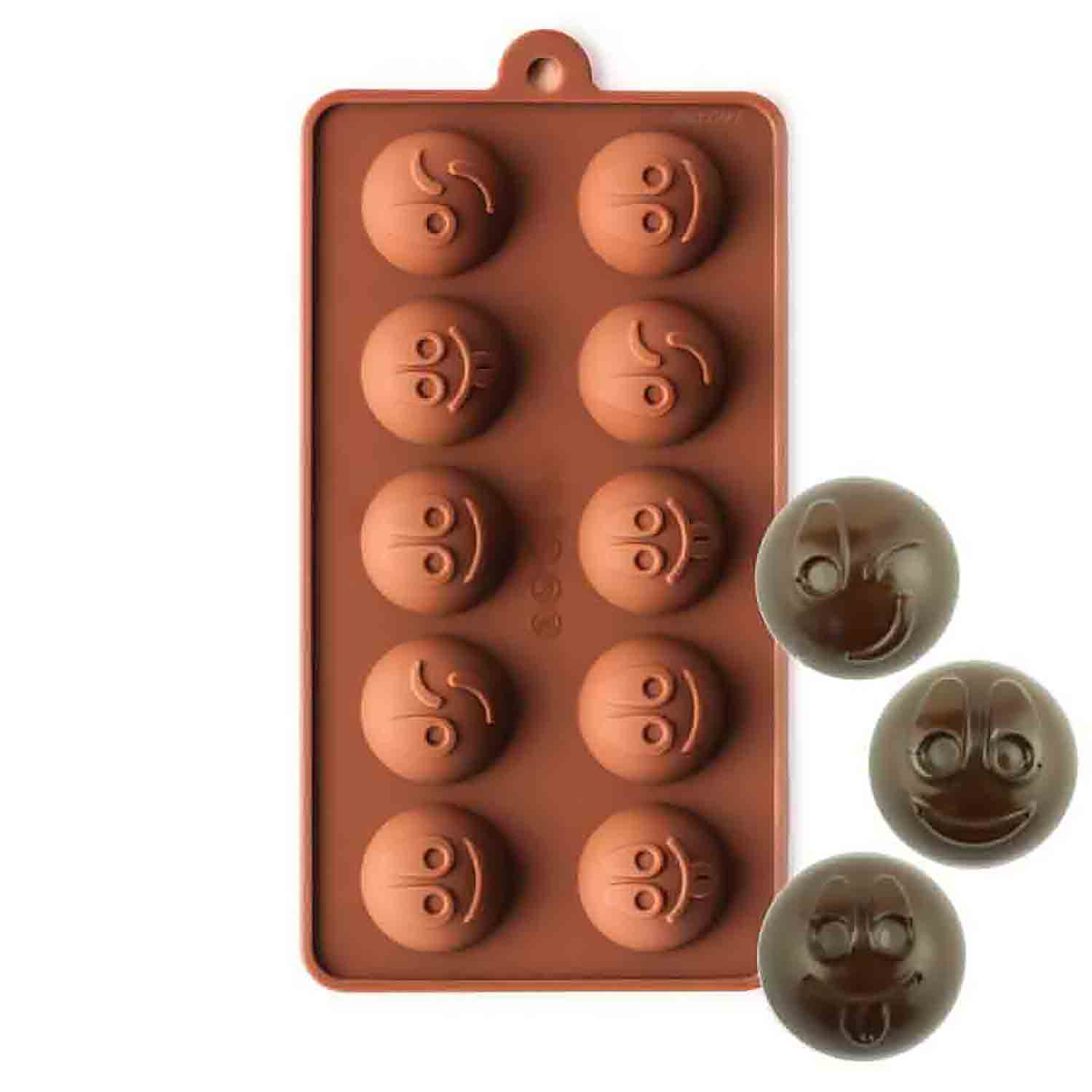 Happy Faces Silicone Chocolate Candy Mold