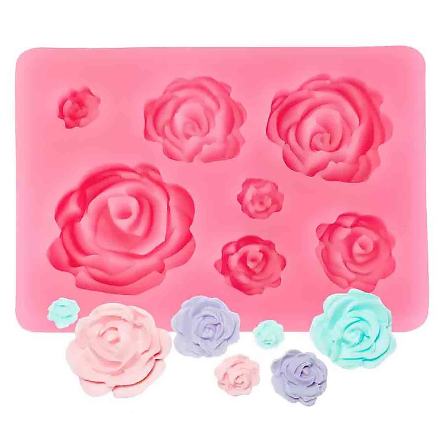 Bourbon Rose Silicone Mold
