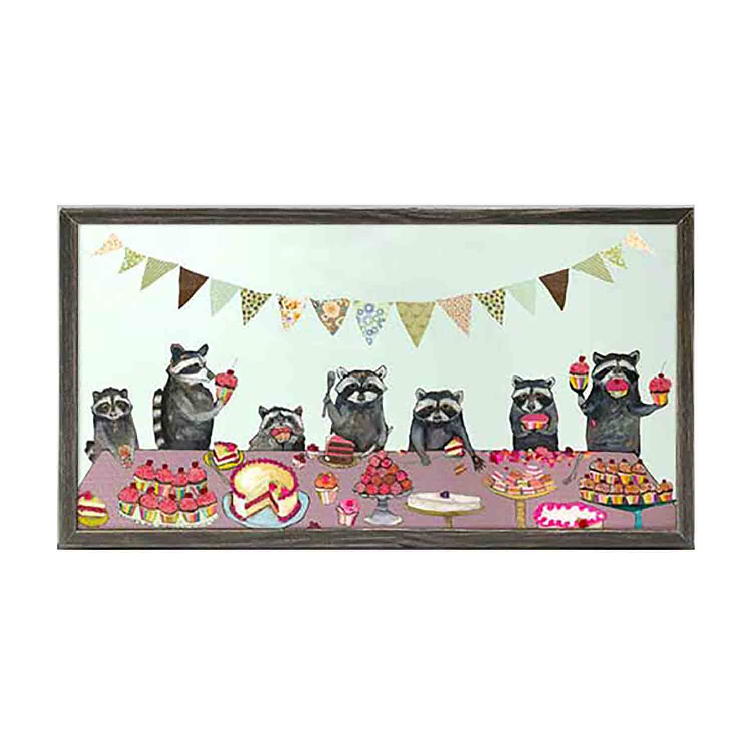 Cupcake Party Mini Framed Canvas