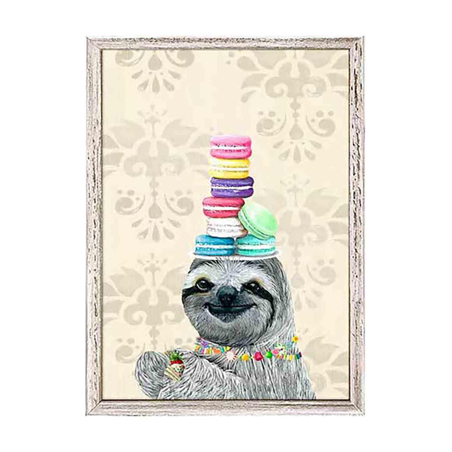 Cinema Snacks Sloth Mini Framed Canvas