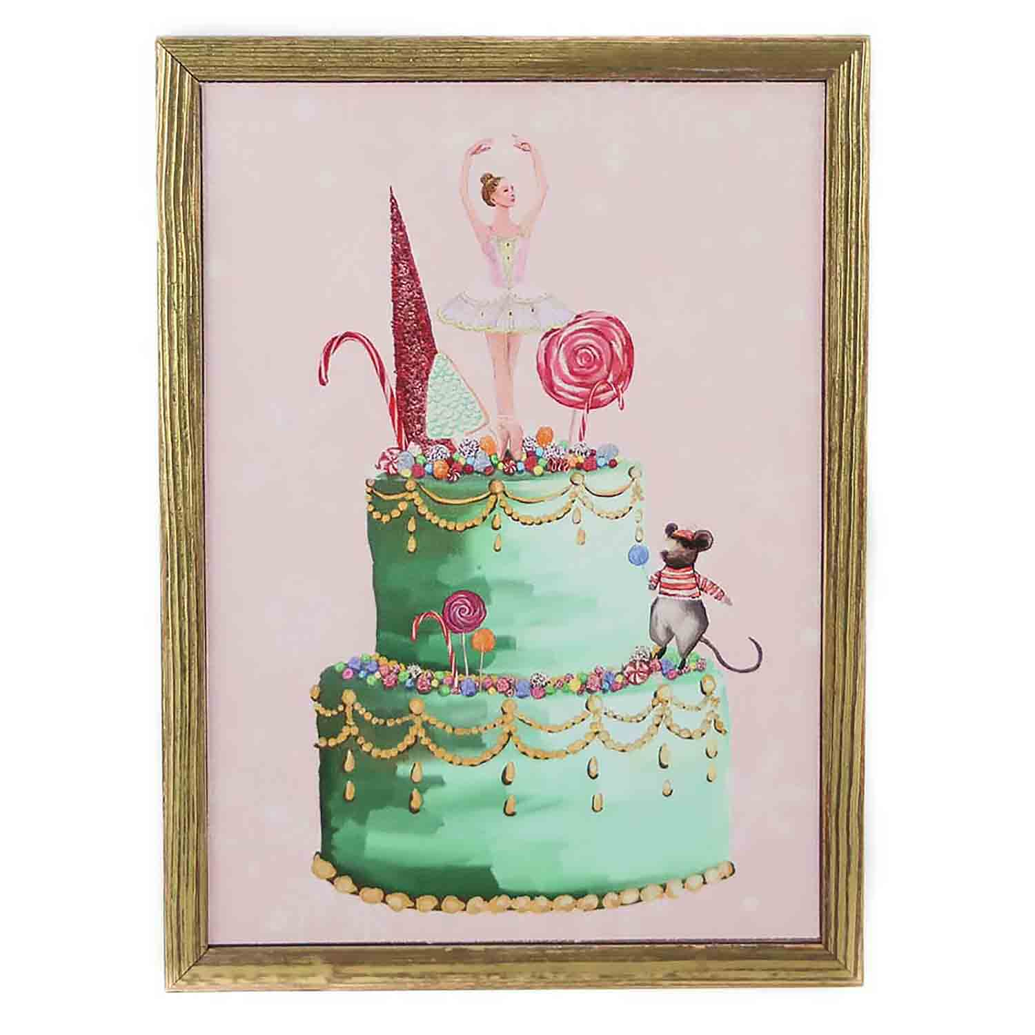 Sugarplum Fairy Mini Framed Canvas