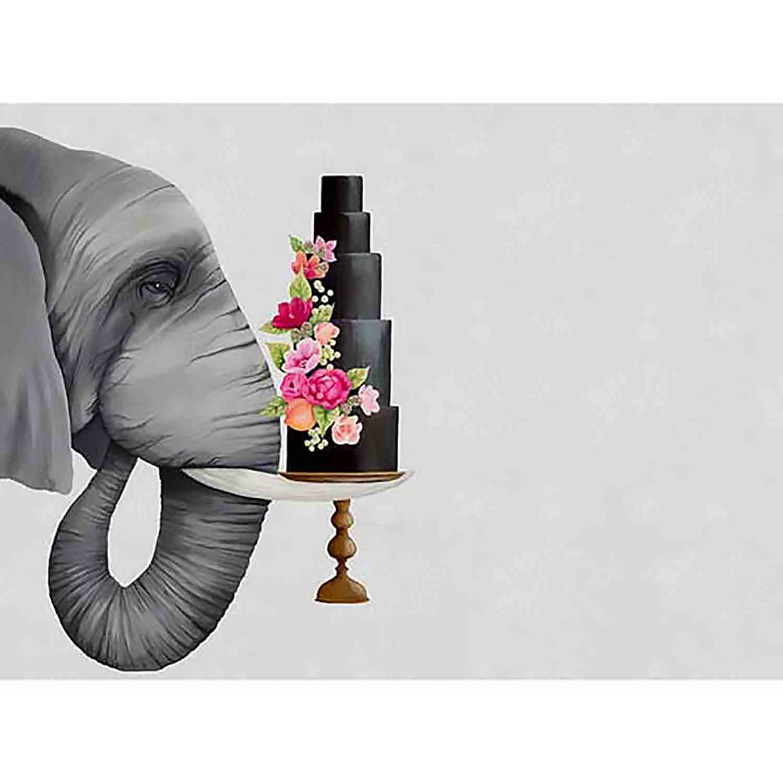 Haute Elephant Vinyl Placemat